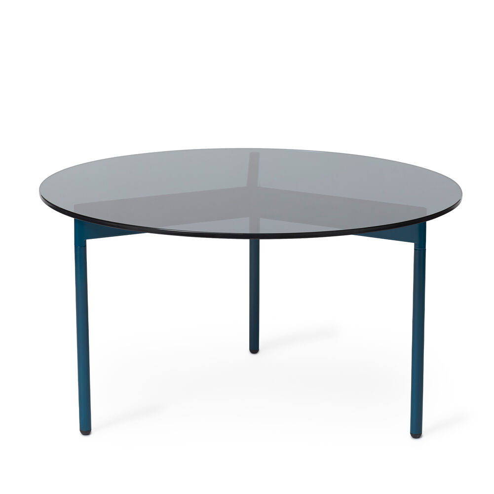 From Above table in smoke grey and blue, 72 cm.