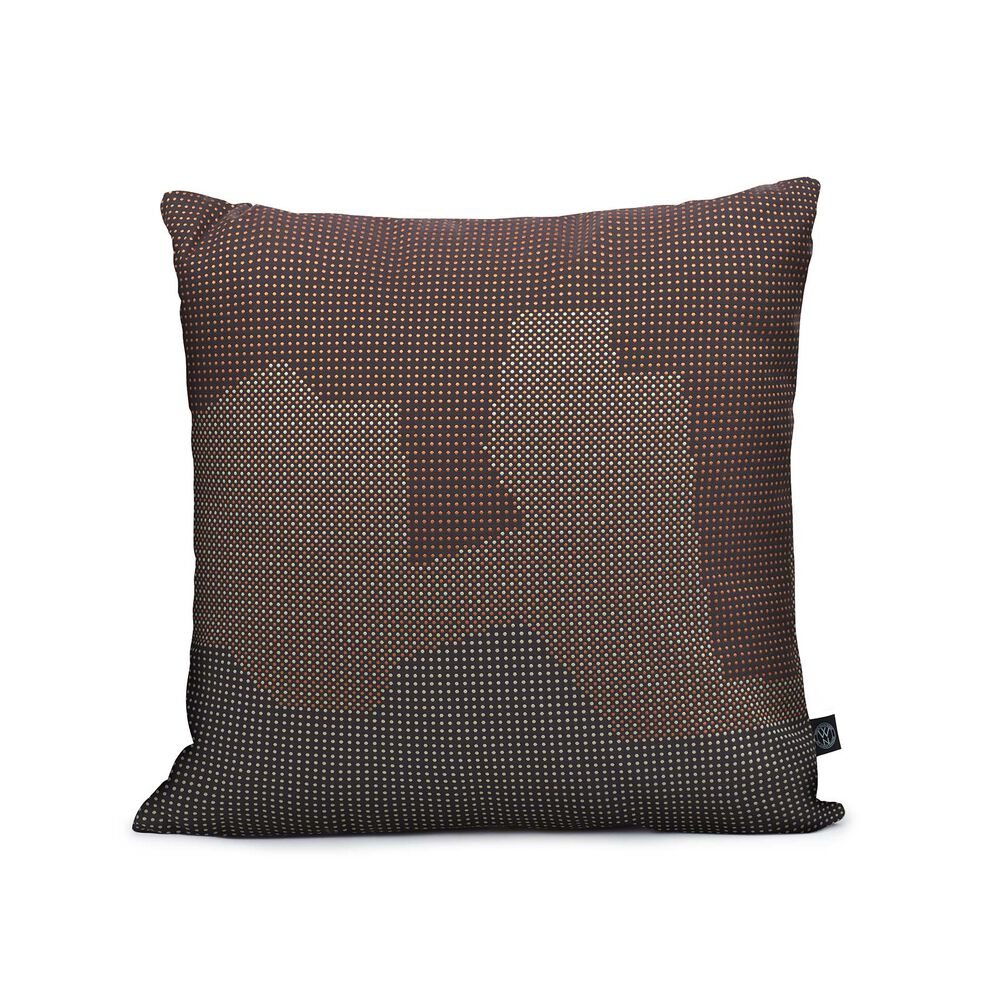 Mountain sprinkle map cushion in blue brown colour