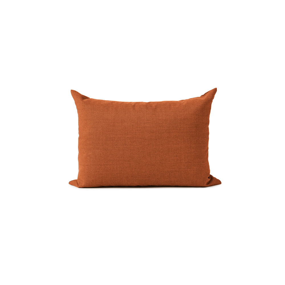 Galore square cushion in burnt orange colour.