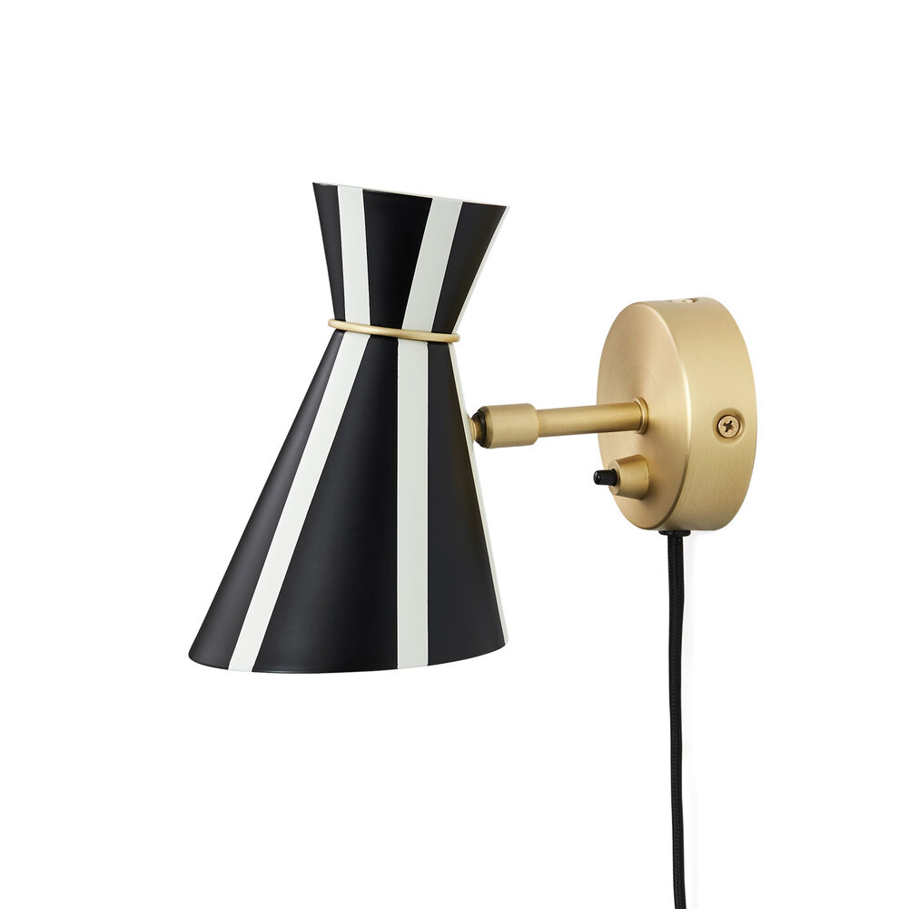 Bloom stripe wall lamp in black and white