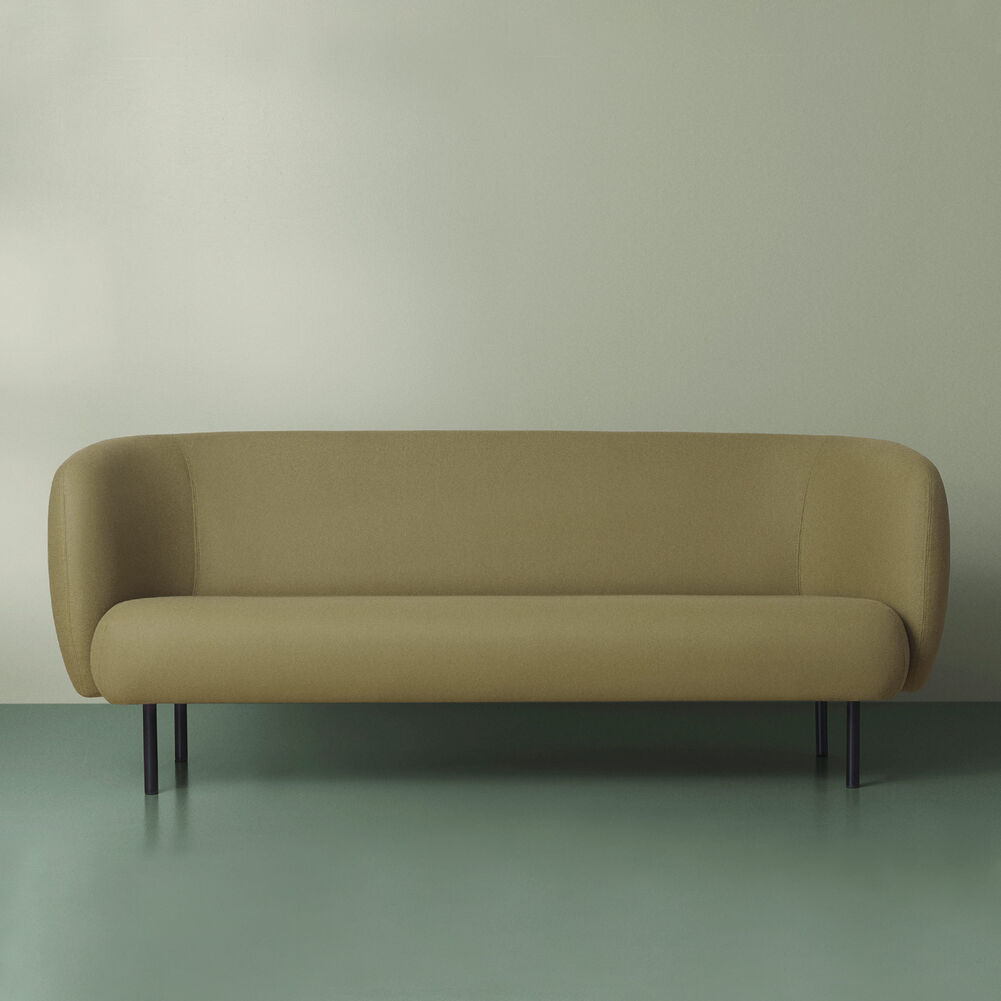 Cape sofa in olive colour