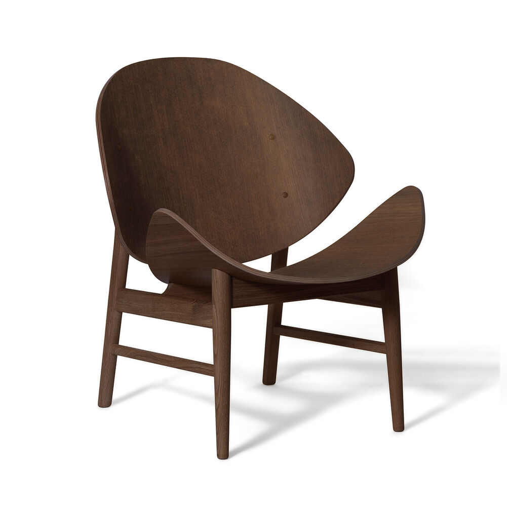 The Orange lounge chair in smoked oak, designed by Hans Olsen.