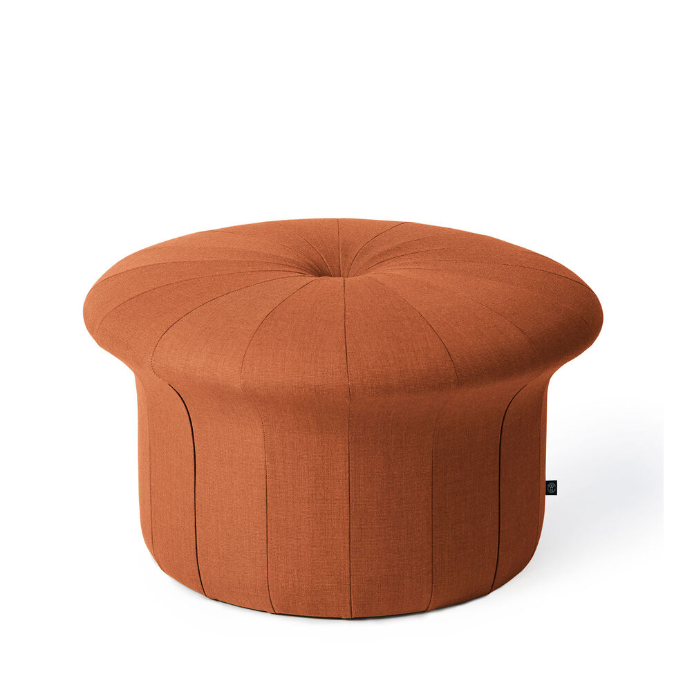 Grace pouffe in Burnt orange colour