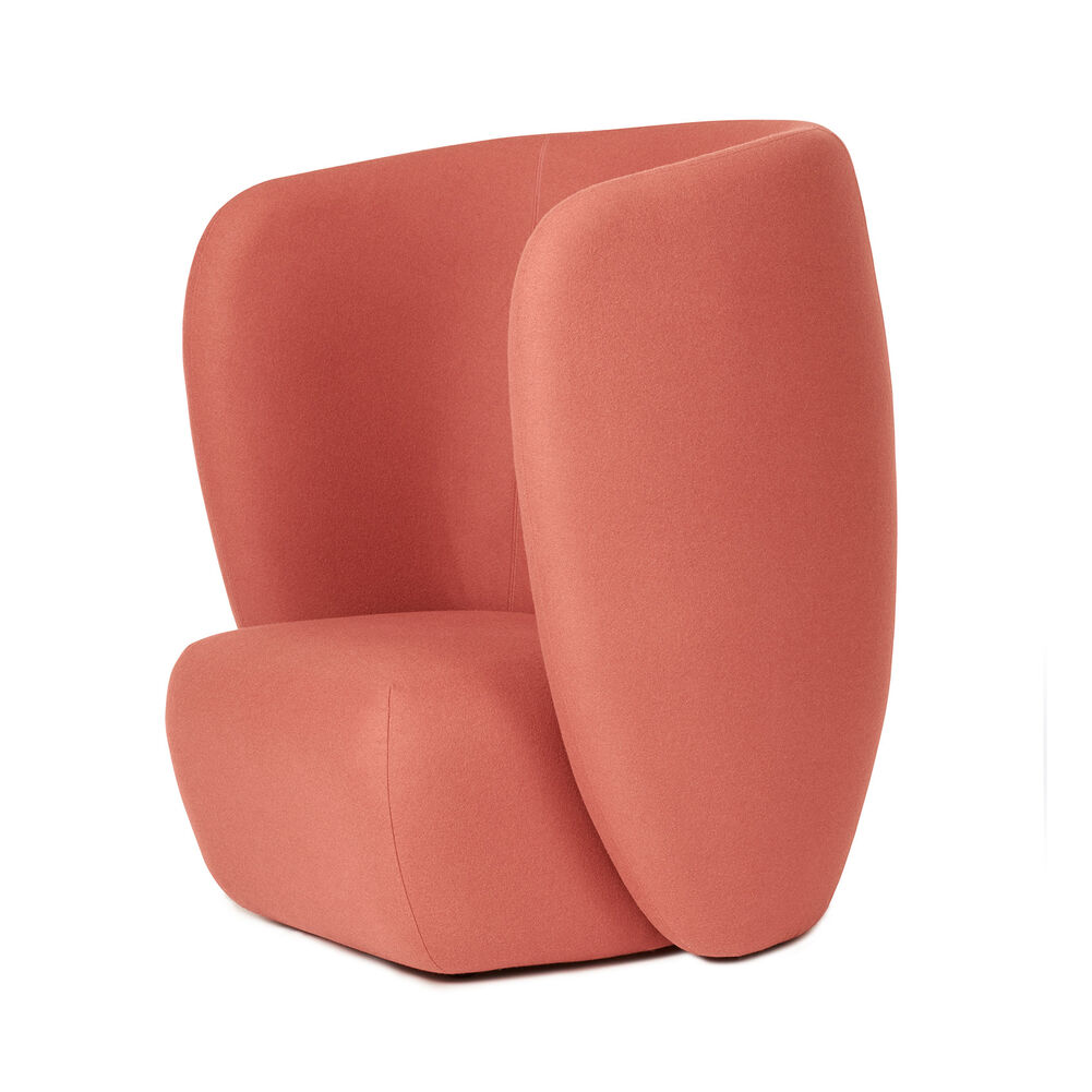 Haven lounge chair in coral colour