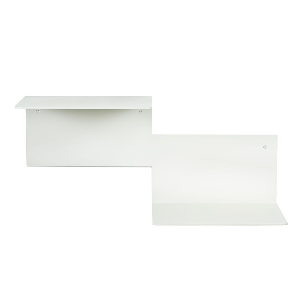 Repeat shelf in warm white, left unit.