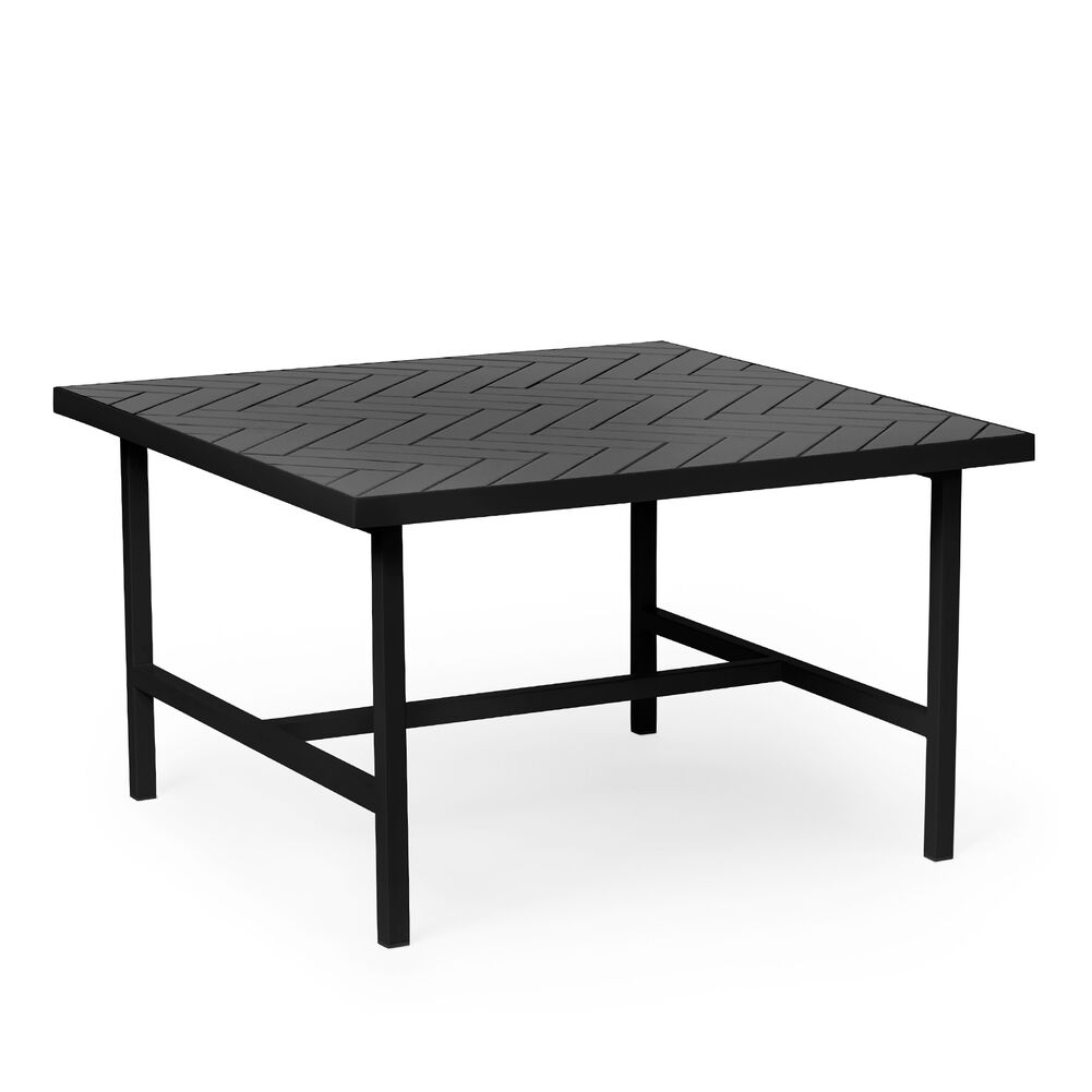 Herringbone tile coffee table in soft black colour