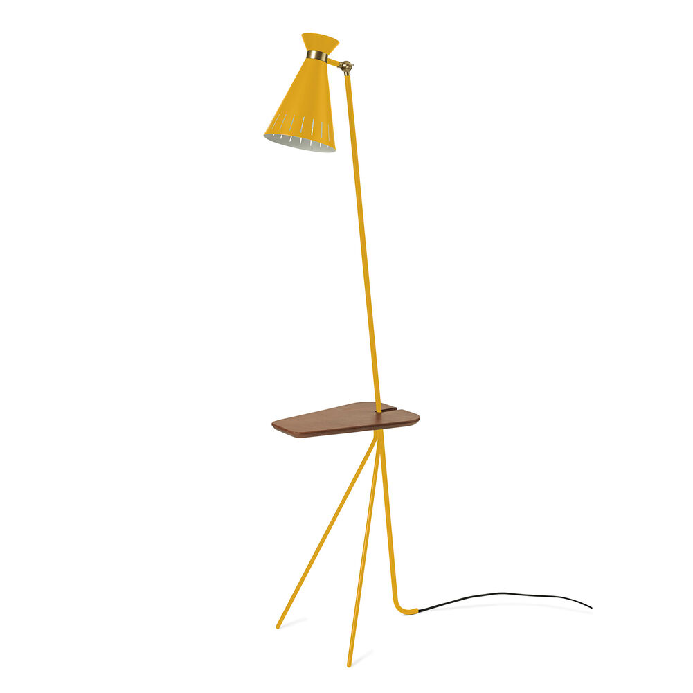 cone floor lamp in yellow
