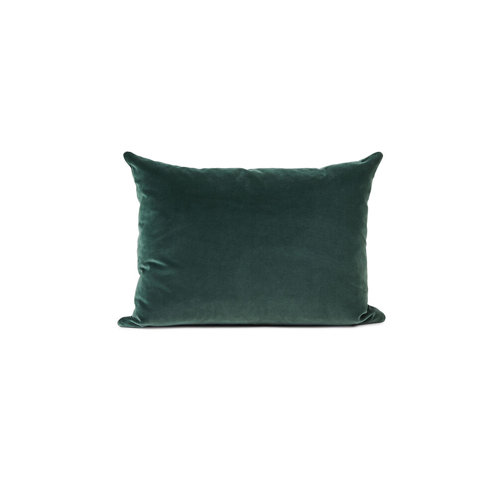 Galore sofa cushion in forest green velvet.
