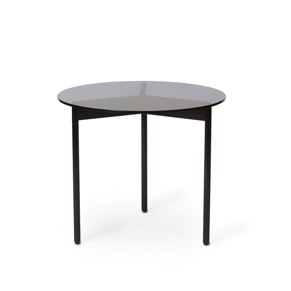 From Above side table in smoke grey and black, 52 cm.