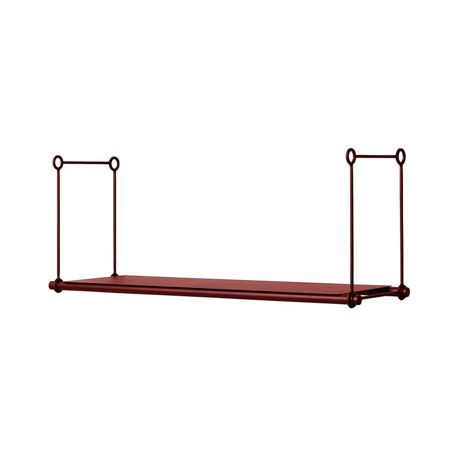 Parade shelving unit extention in oxide red.