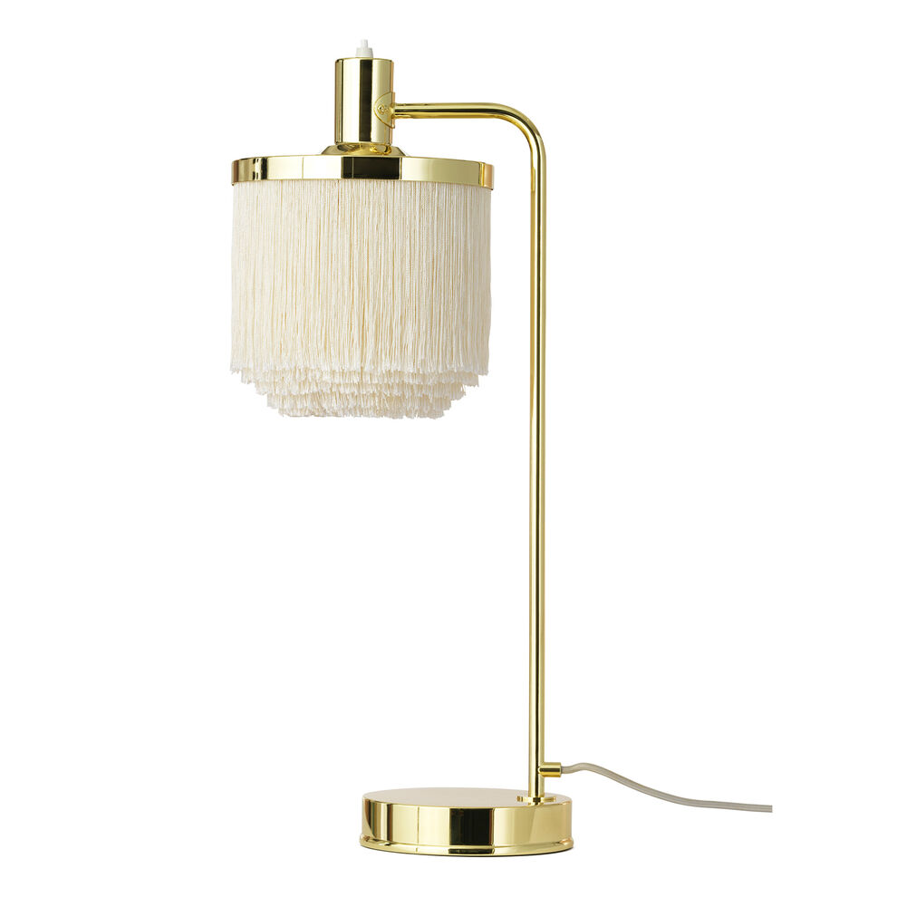 Fringe table lamp in cream white colour
