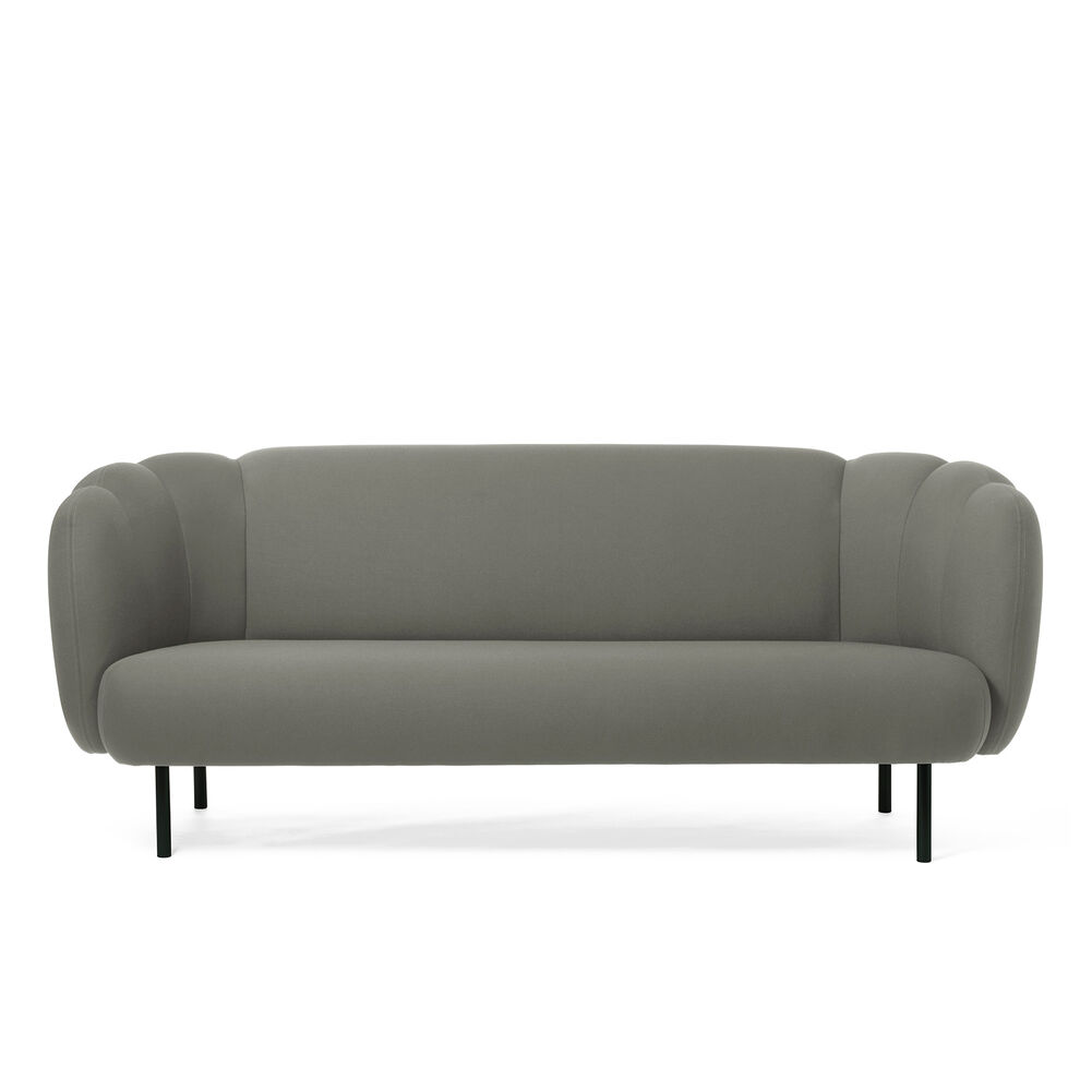 Cape sofa with stitches in warm grey colour