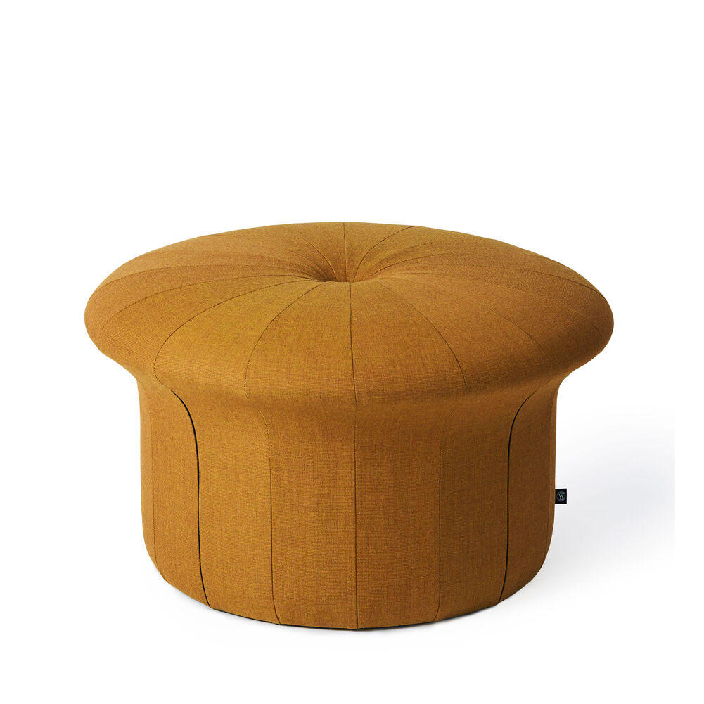 Grace pouffe in dark ochre colour