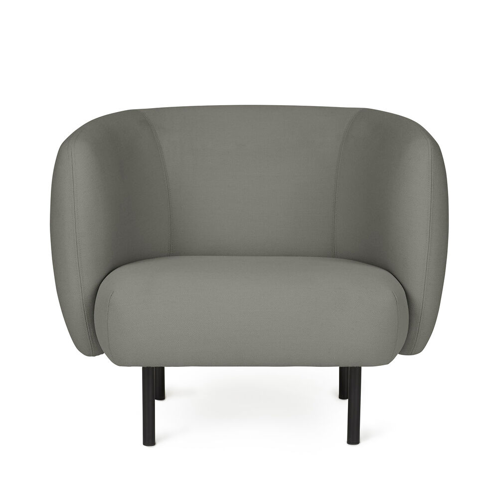 Cape lounge chair in warm grey colour