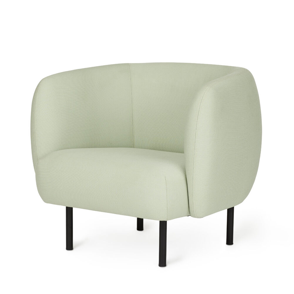 Cape lounge chair in mint colour