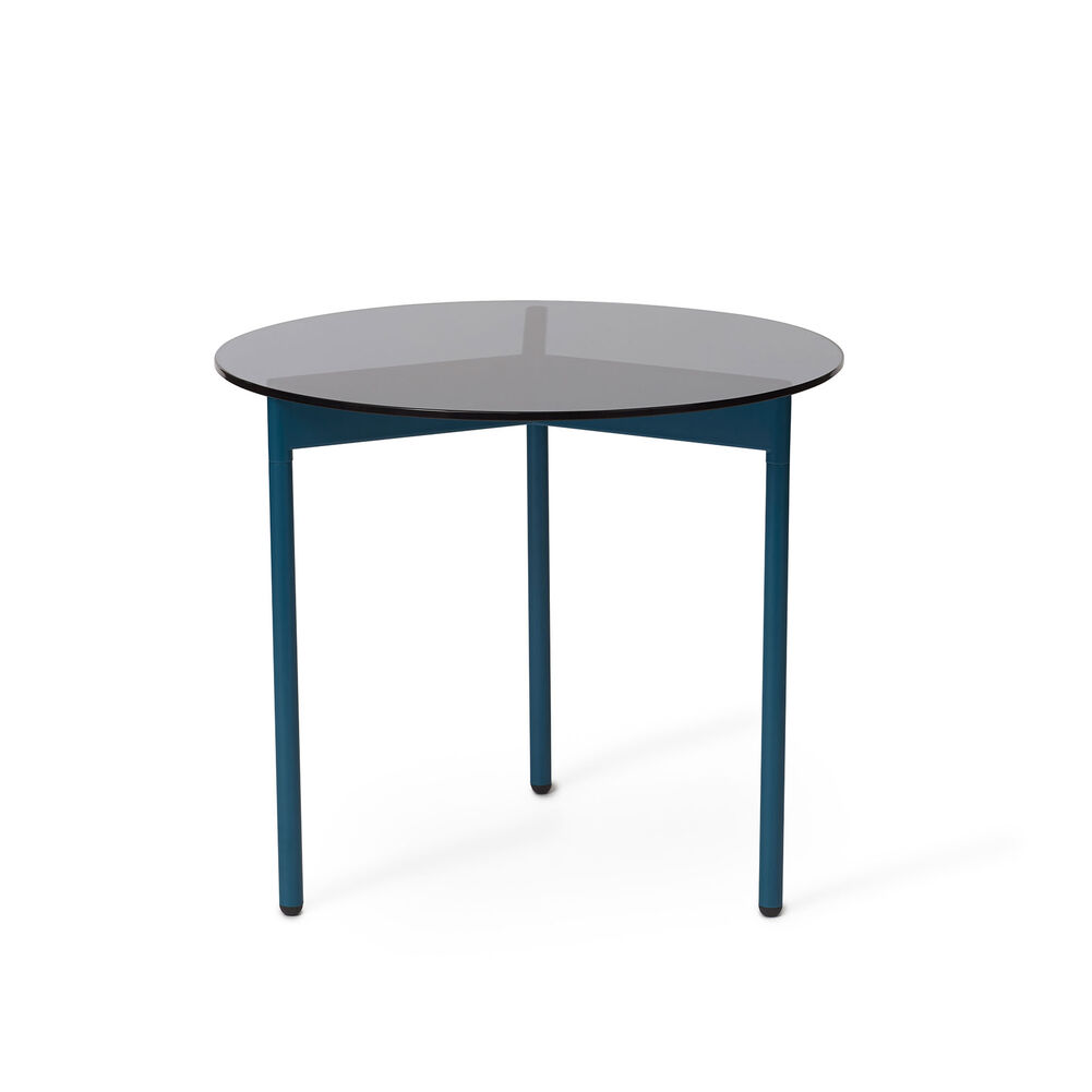 From Above side table in smoke brown and blue, 52 cm.