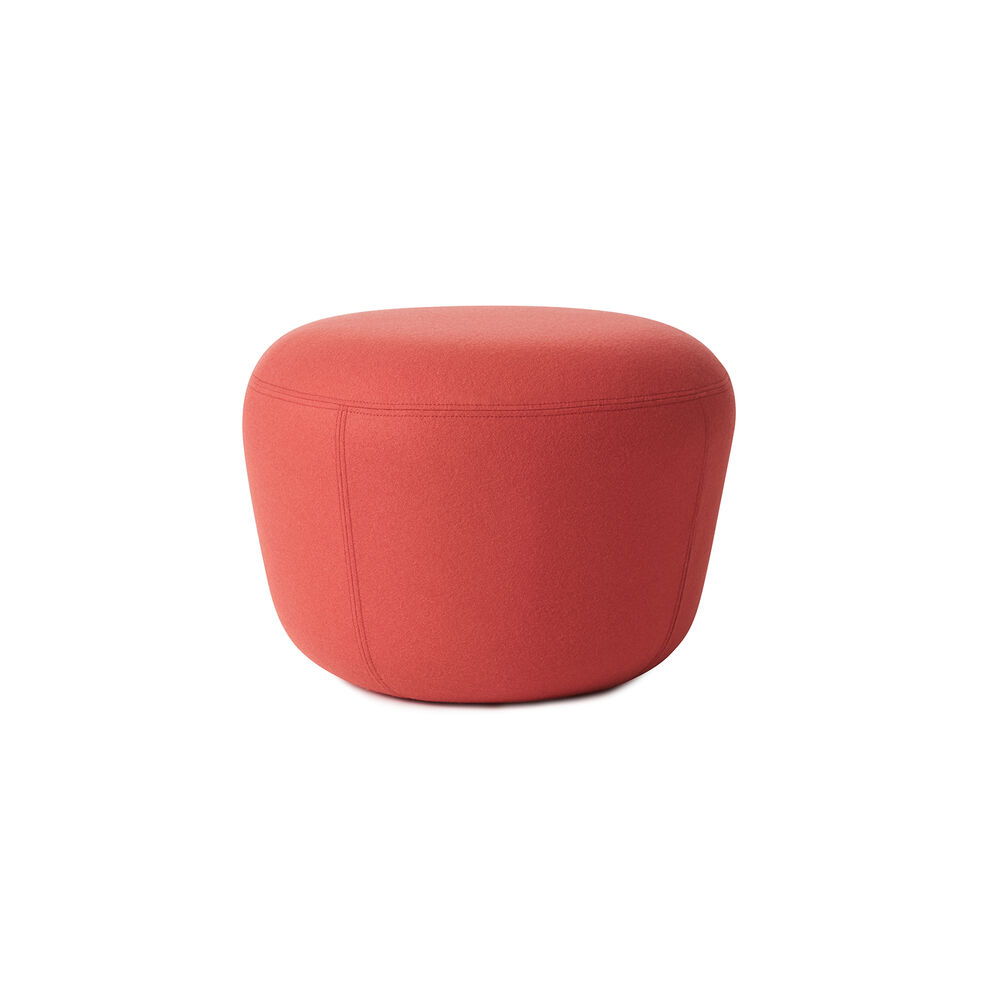 Haven pouf in apple red colour