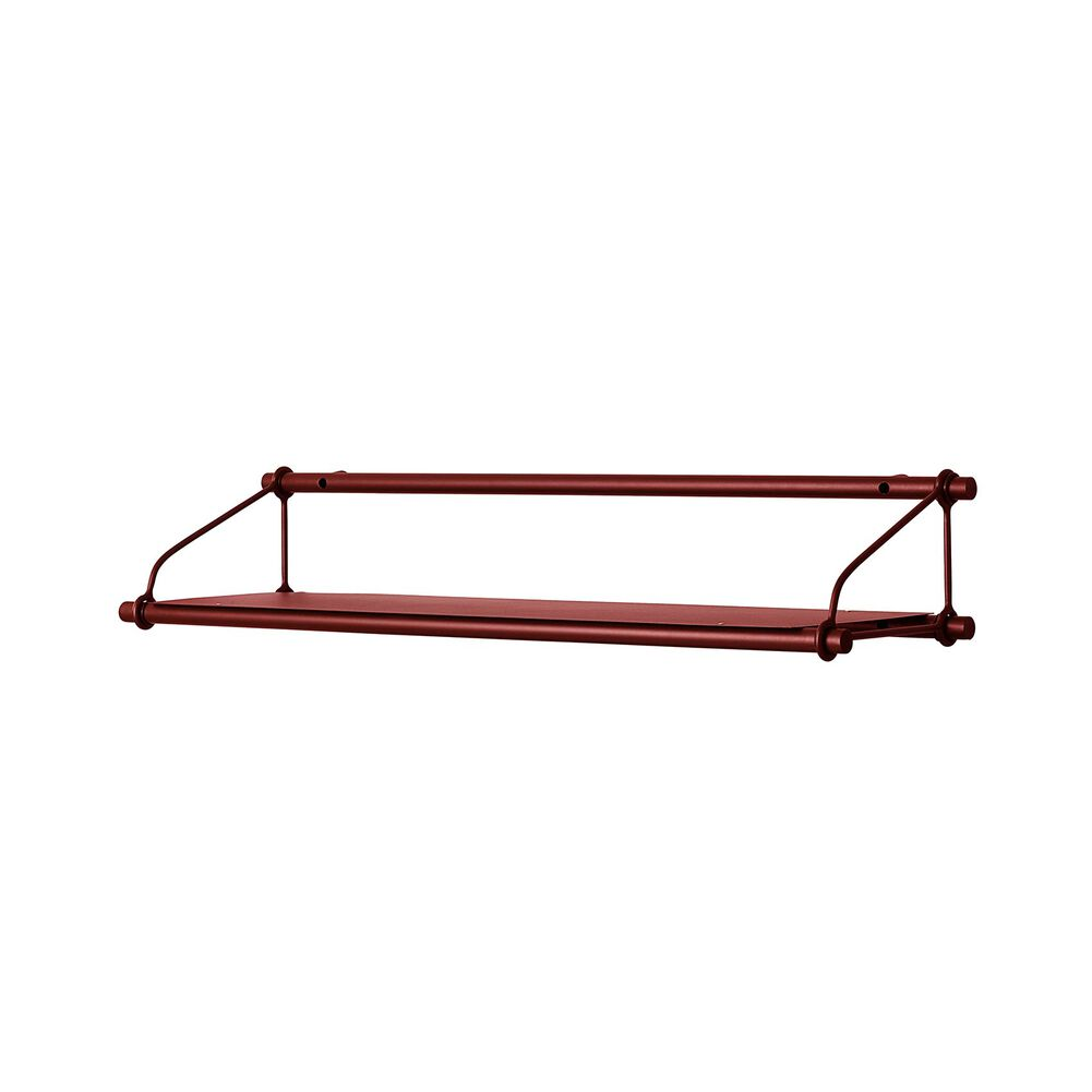 Parade shelf in oxide red.