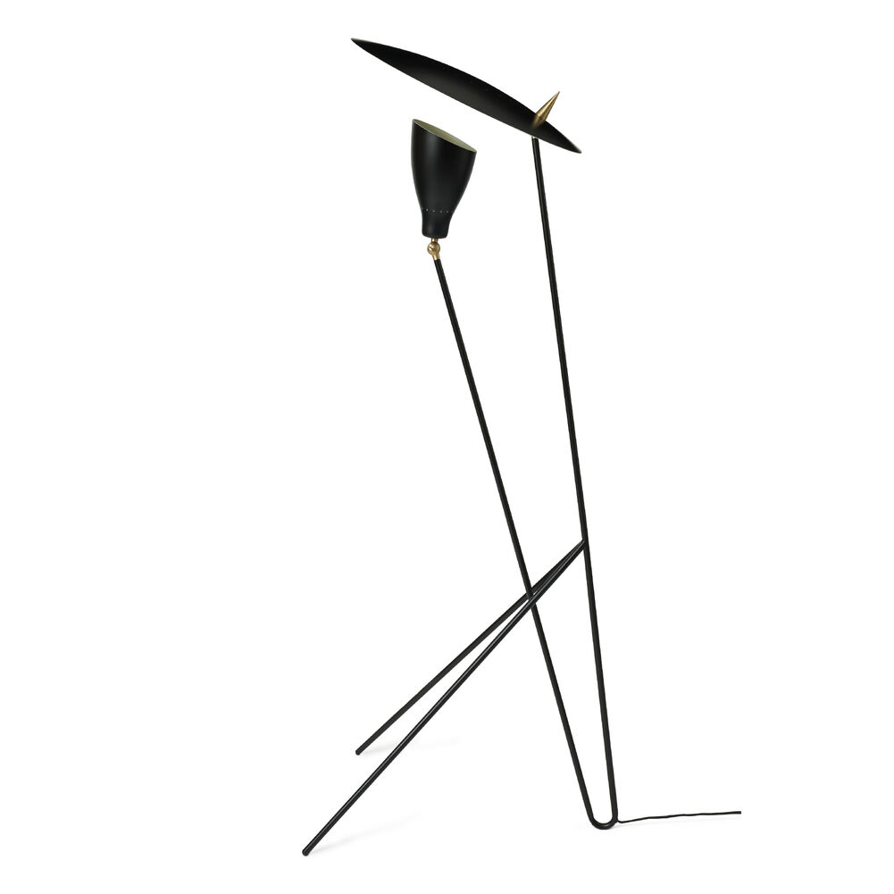 Silhouette floor lamp in black noir colour