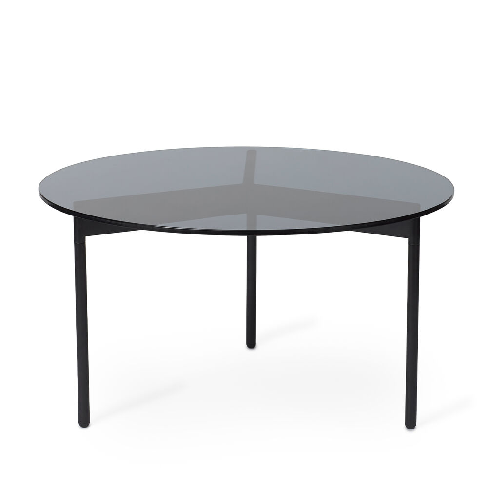 From Above table in smoke grey and black, 72 cm.
