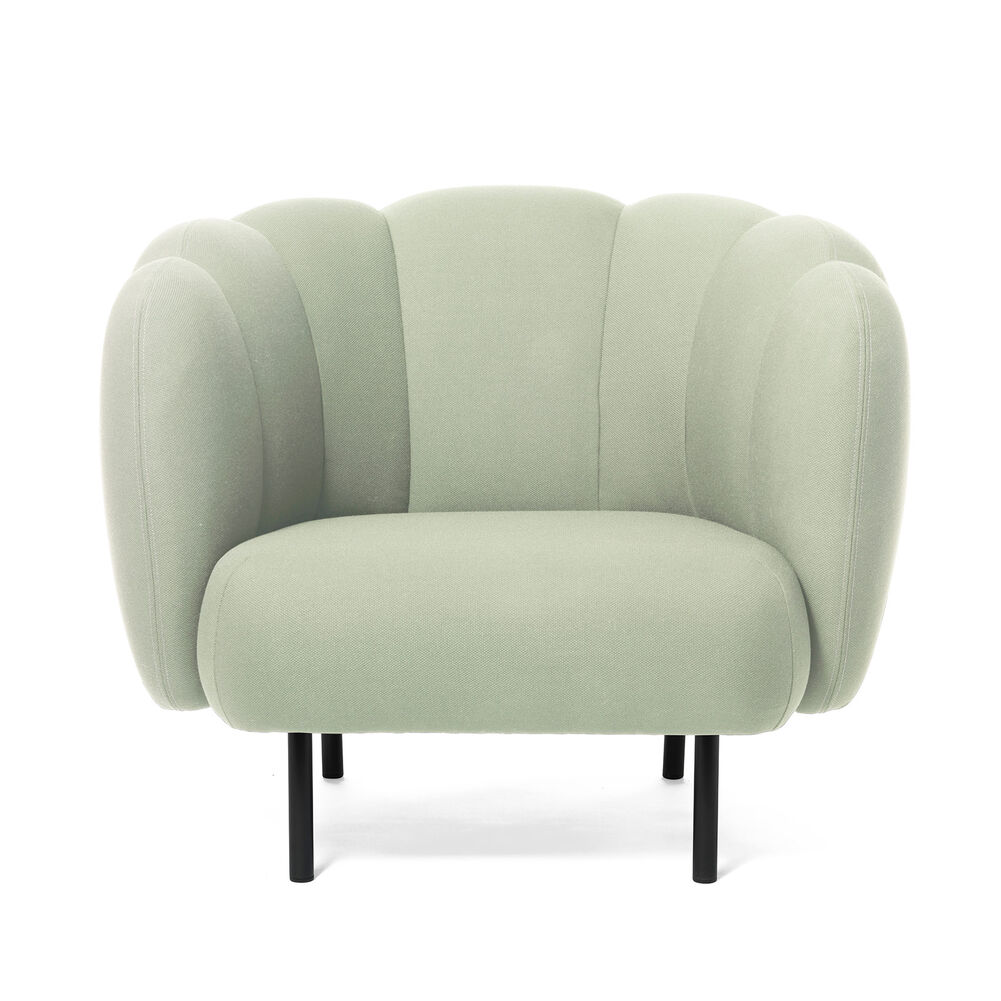 Cape lounge chair with stitches in mint colour