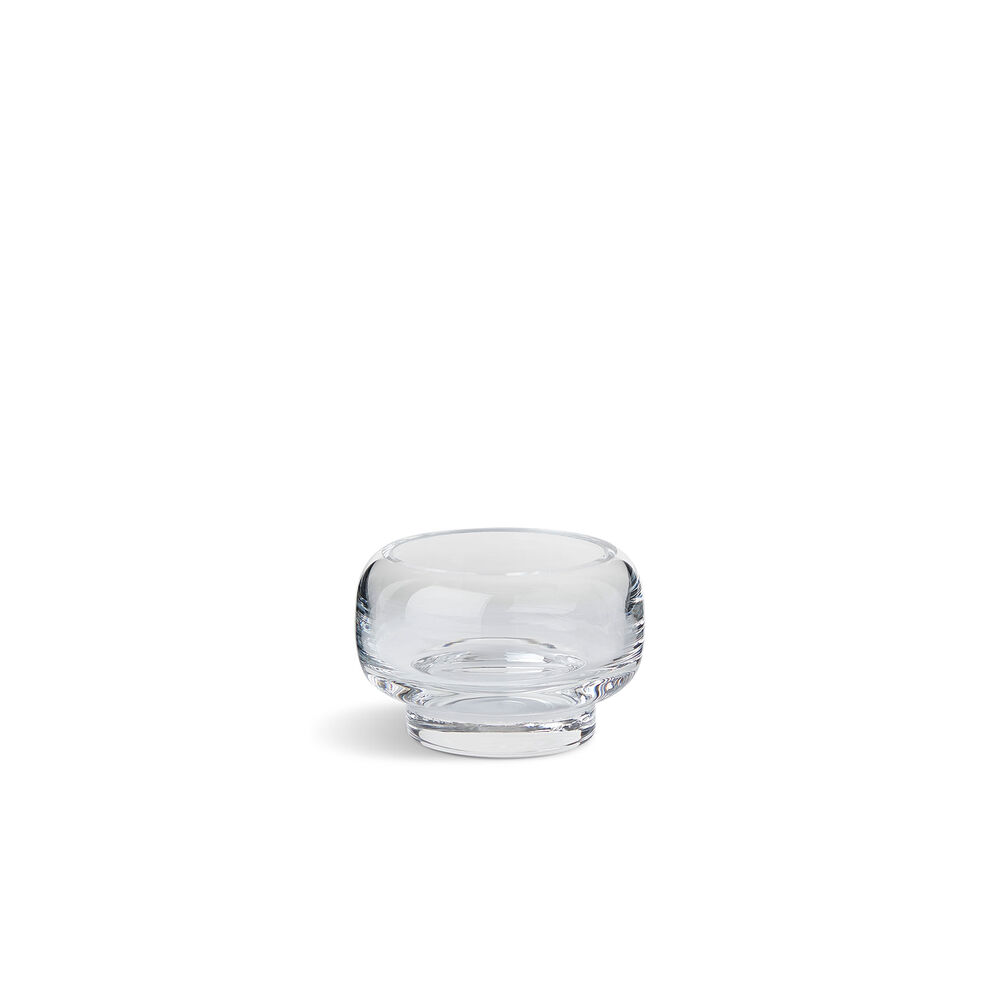 Small stack tealight in clear glass