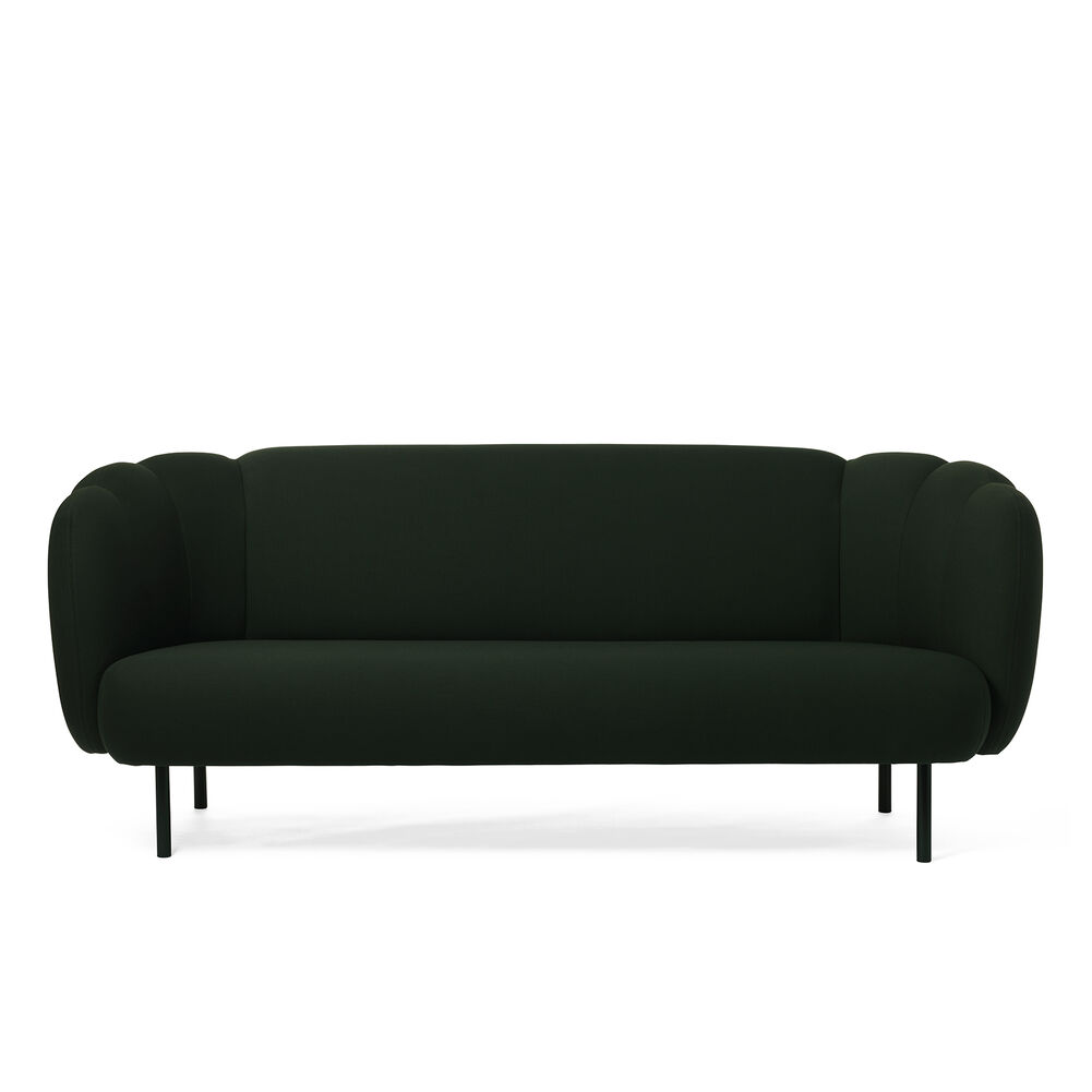 Cape sofa with stitches in forest green colour