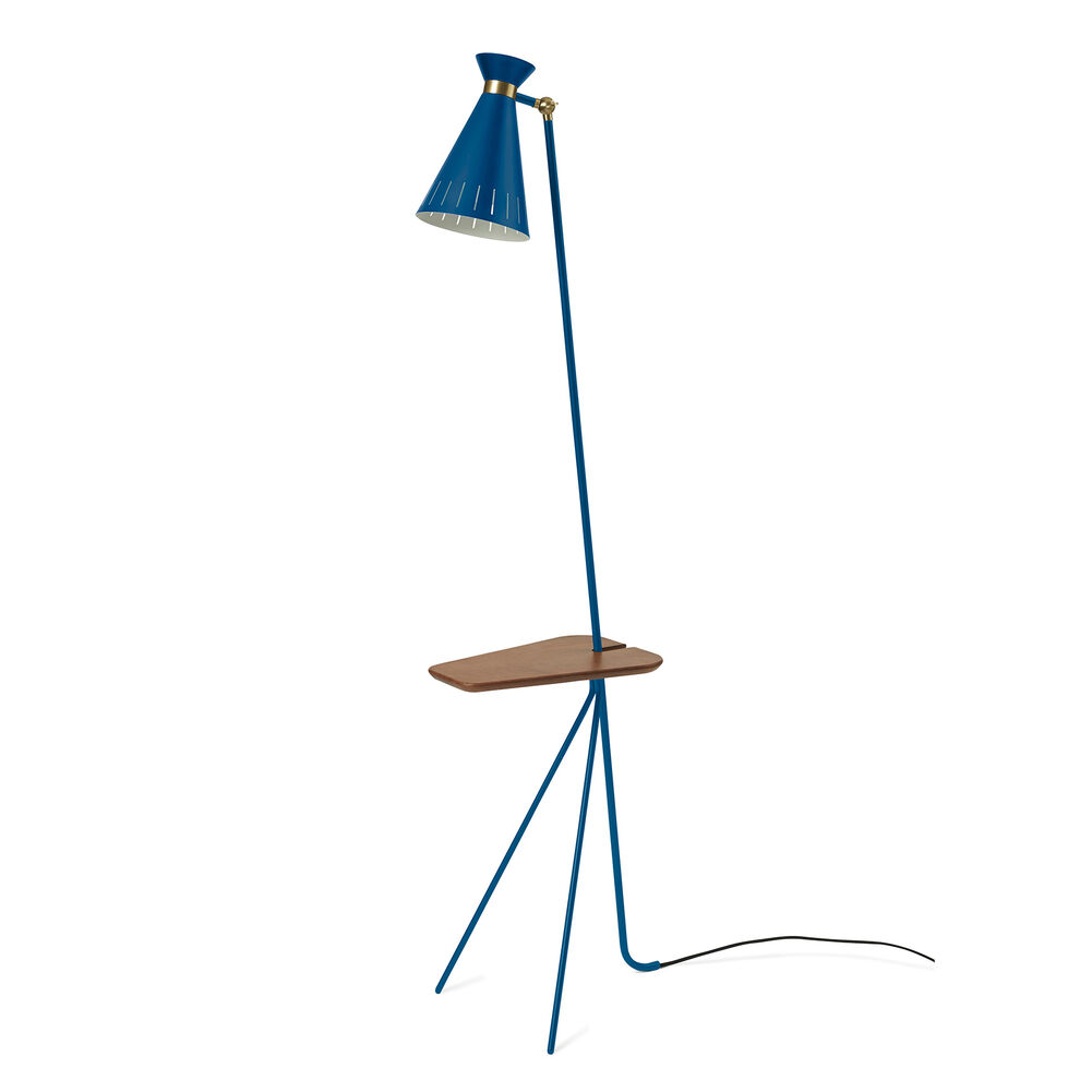 cone floor lamp in blue