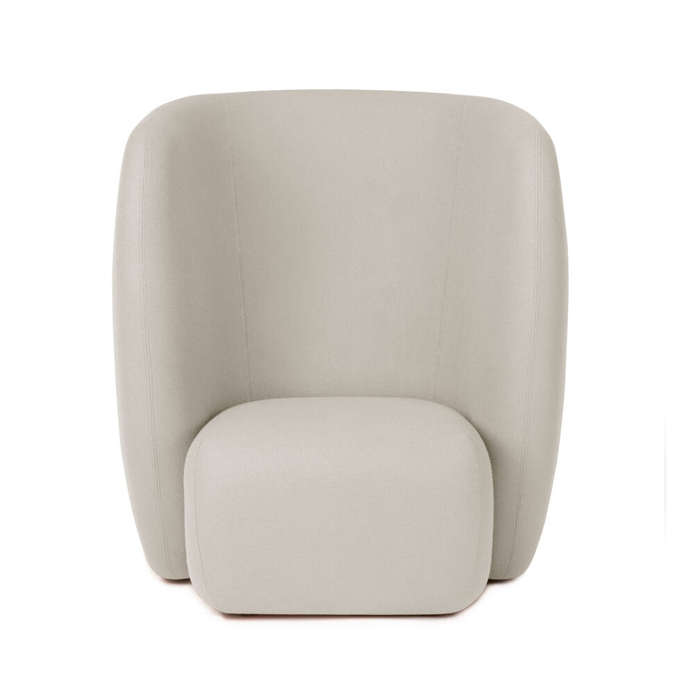 Haven lounge chair in pearl grey colour