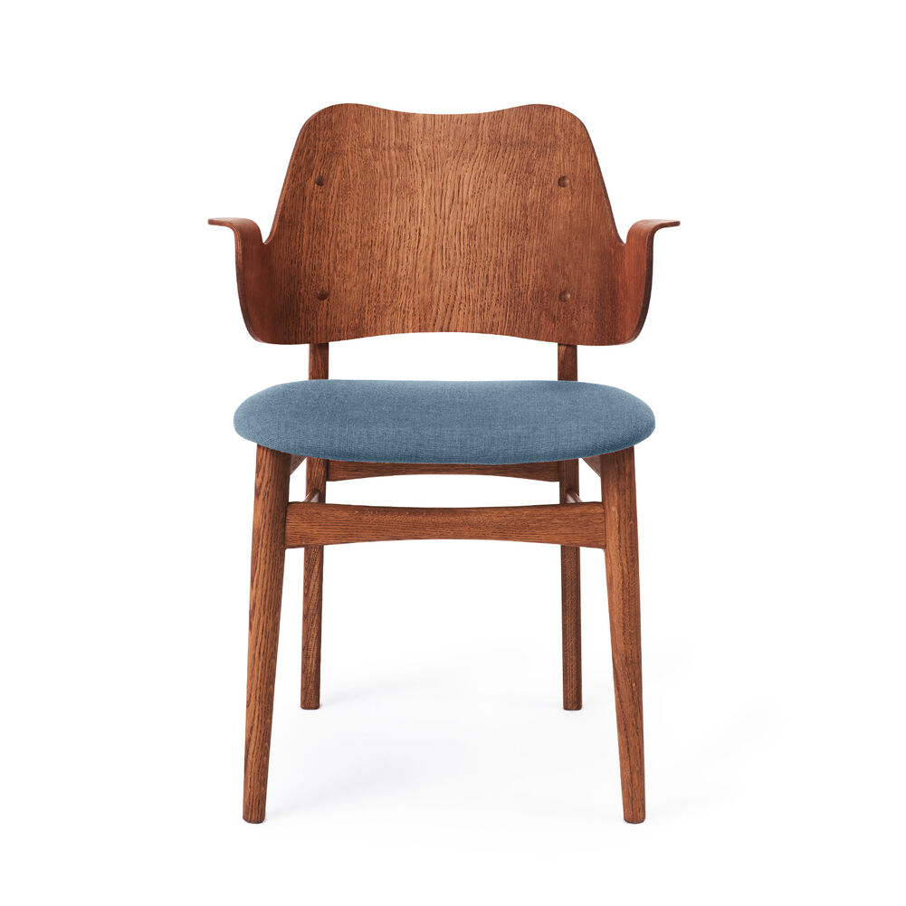 Gesture dining chair i teak and denim blue