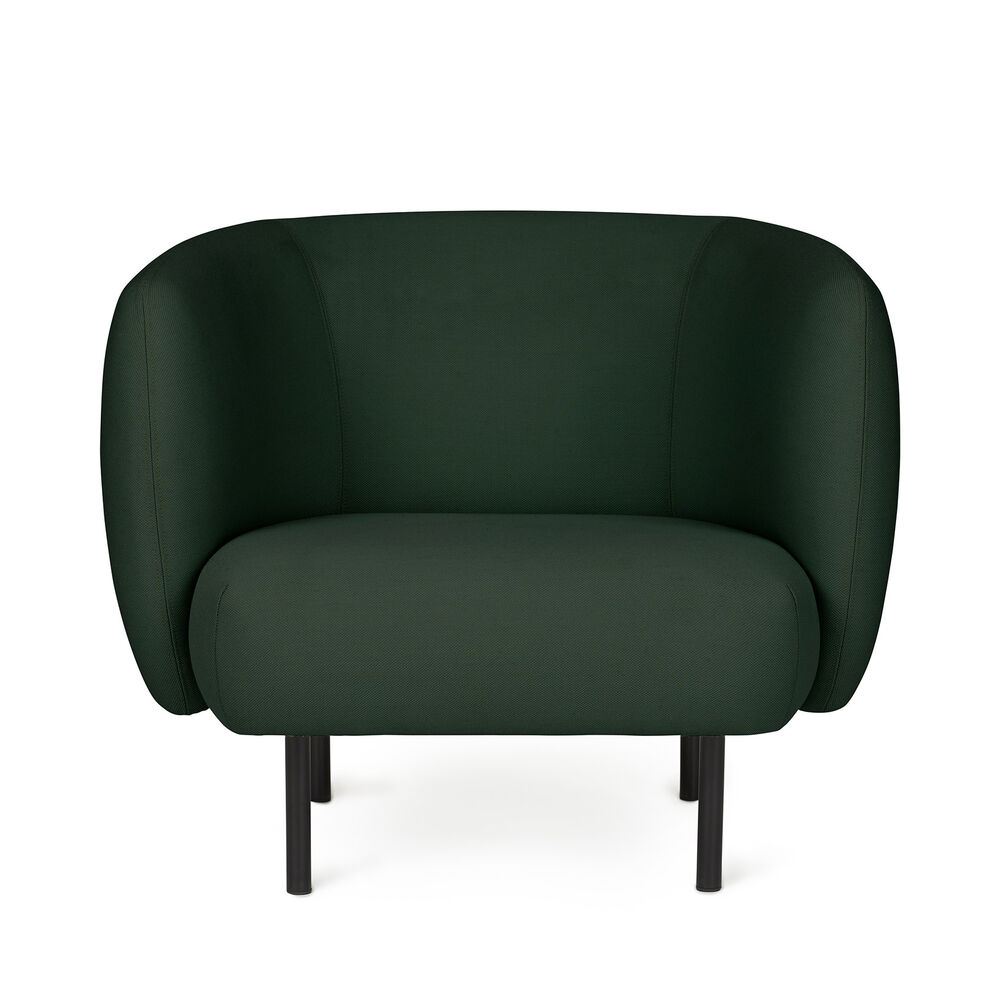 Cape lounge chair in forest green colour