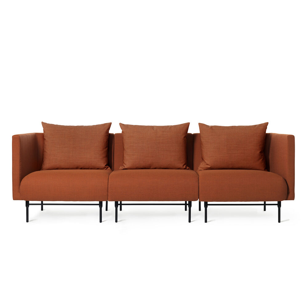 Galore modular sofa, 3 seater in burnt orange colour.