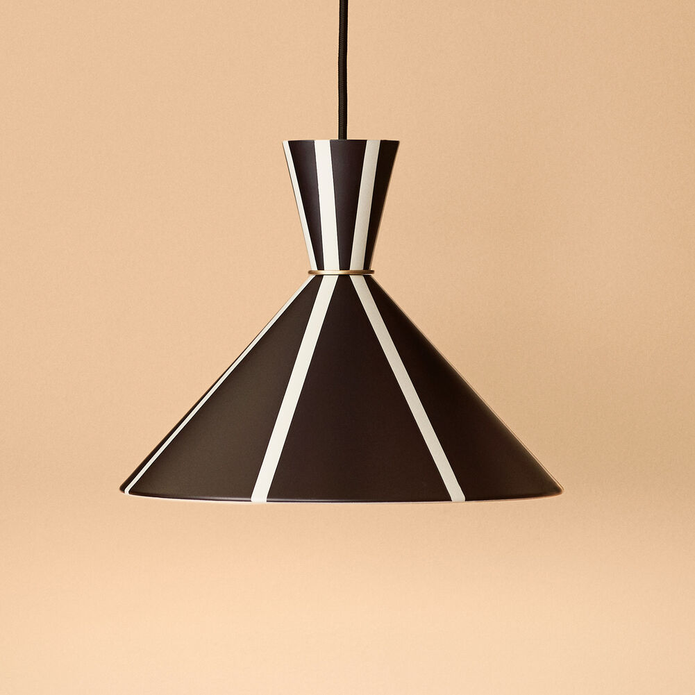 striped pendant in black and white