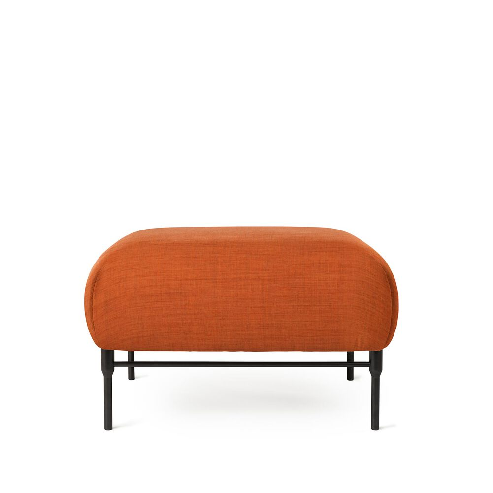 Galore pouf module in burnt orange colour.