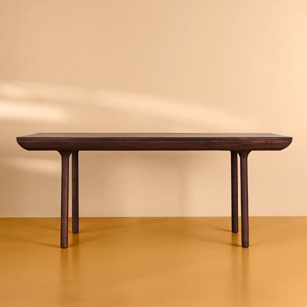 Rúna dining table in smoked oak