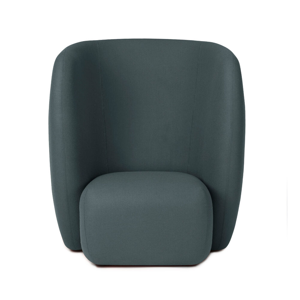 Haven lounge chair in petrol colour