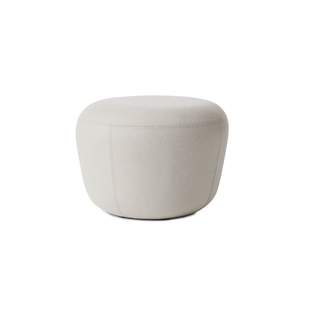 Haven pouf in pearl grey colour
