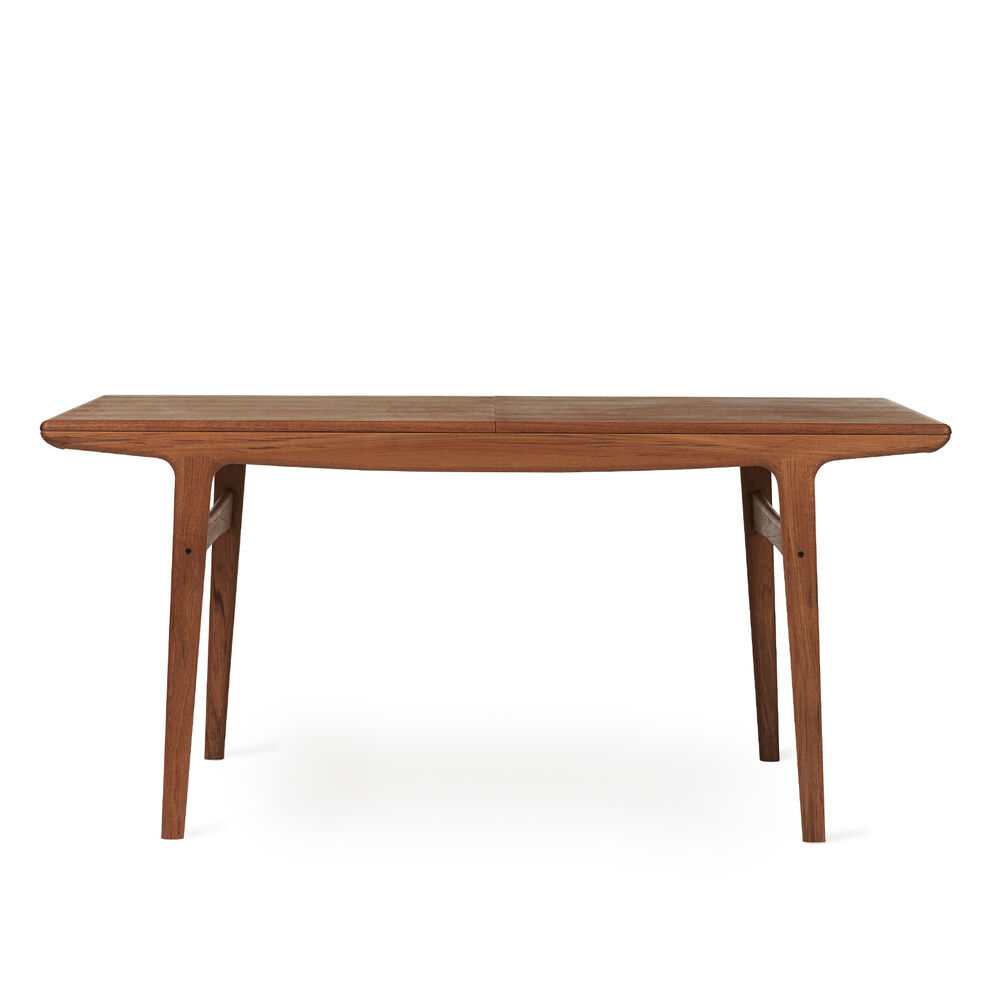 Evermore dining table in teak wood, 160 cm.
