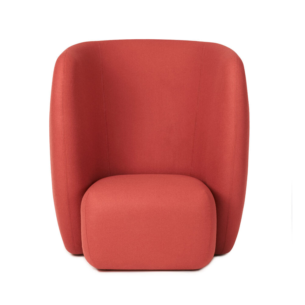 Haven lounge chair in apple red colour
