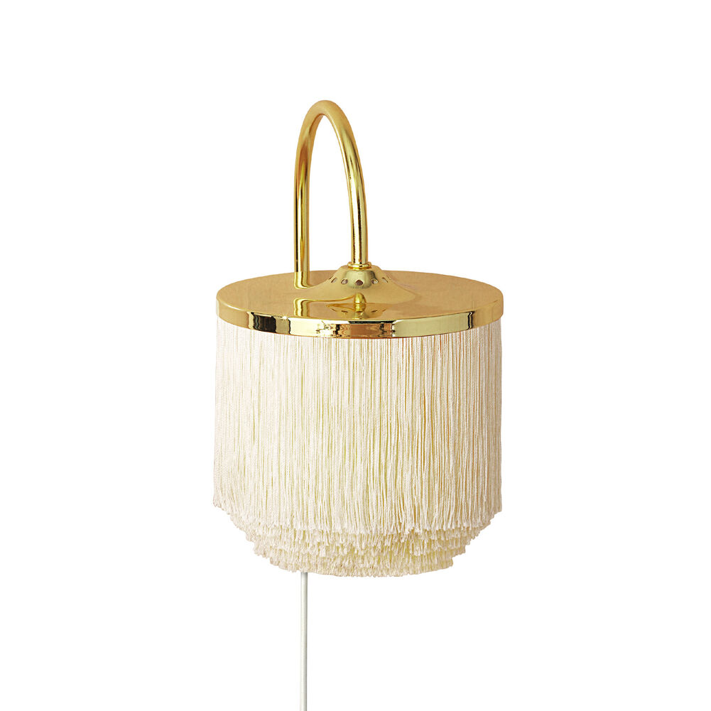 Fringe wall lamp in cream white colour