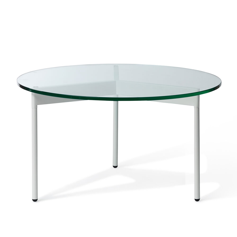 From Above table in clear and white, 72 cm.