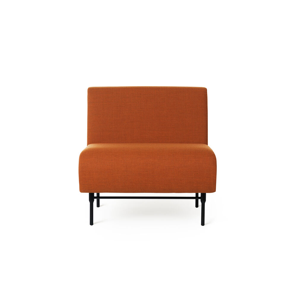 Galore center module in burnt orange colour.