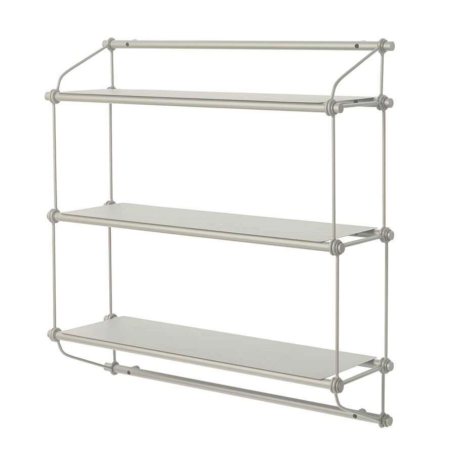 Parade shelving unit in warm white with three shelves.