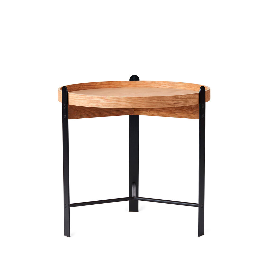 Compose coffee table in oak and black, small.