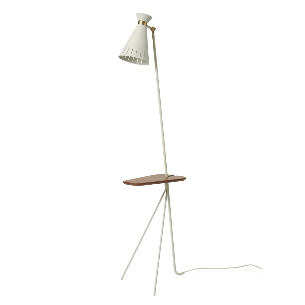 Cone floor lamp in white