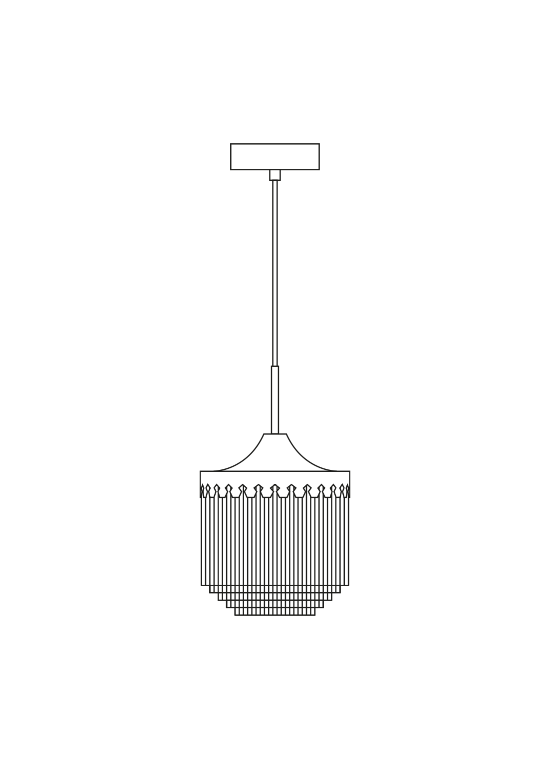 Fringe pendant Ø20 illustration