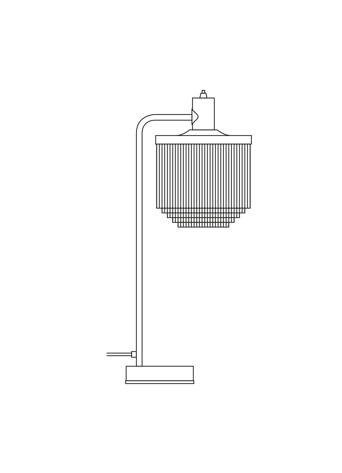 Fringe bordlampe illustration