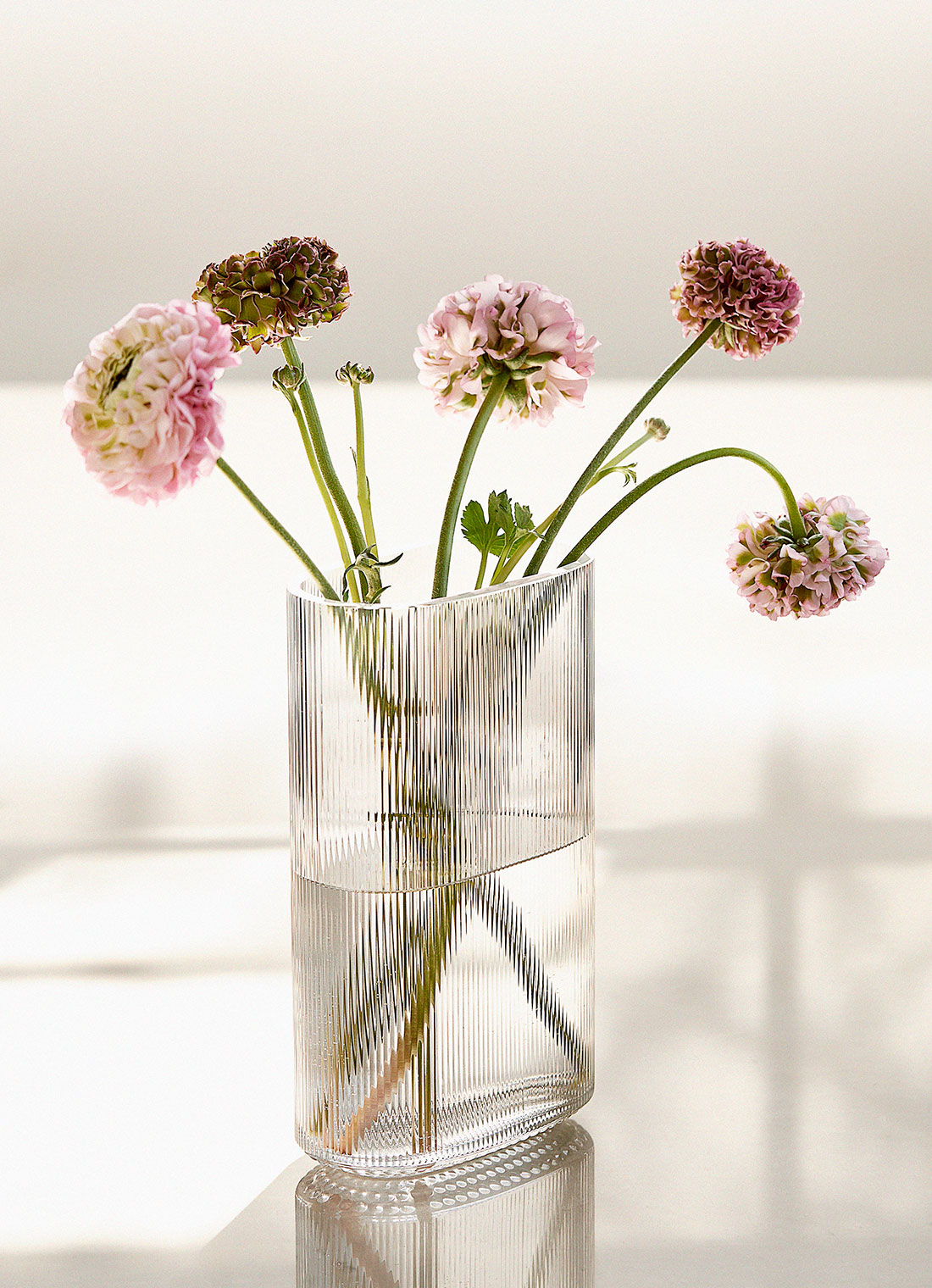 Arctic vase with flowers