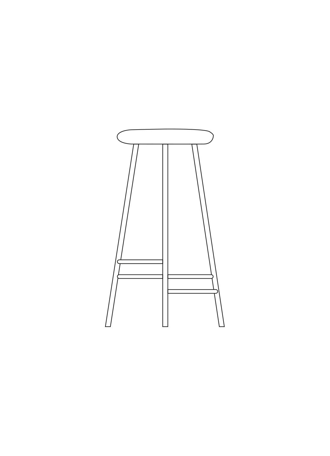 Pebble stool illustration