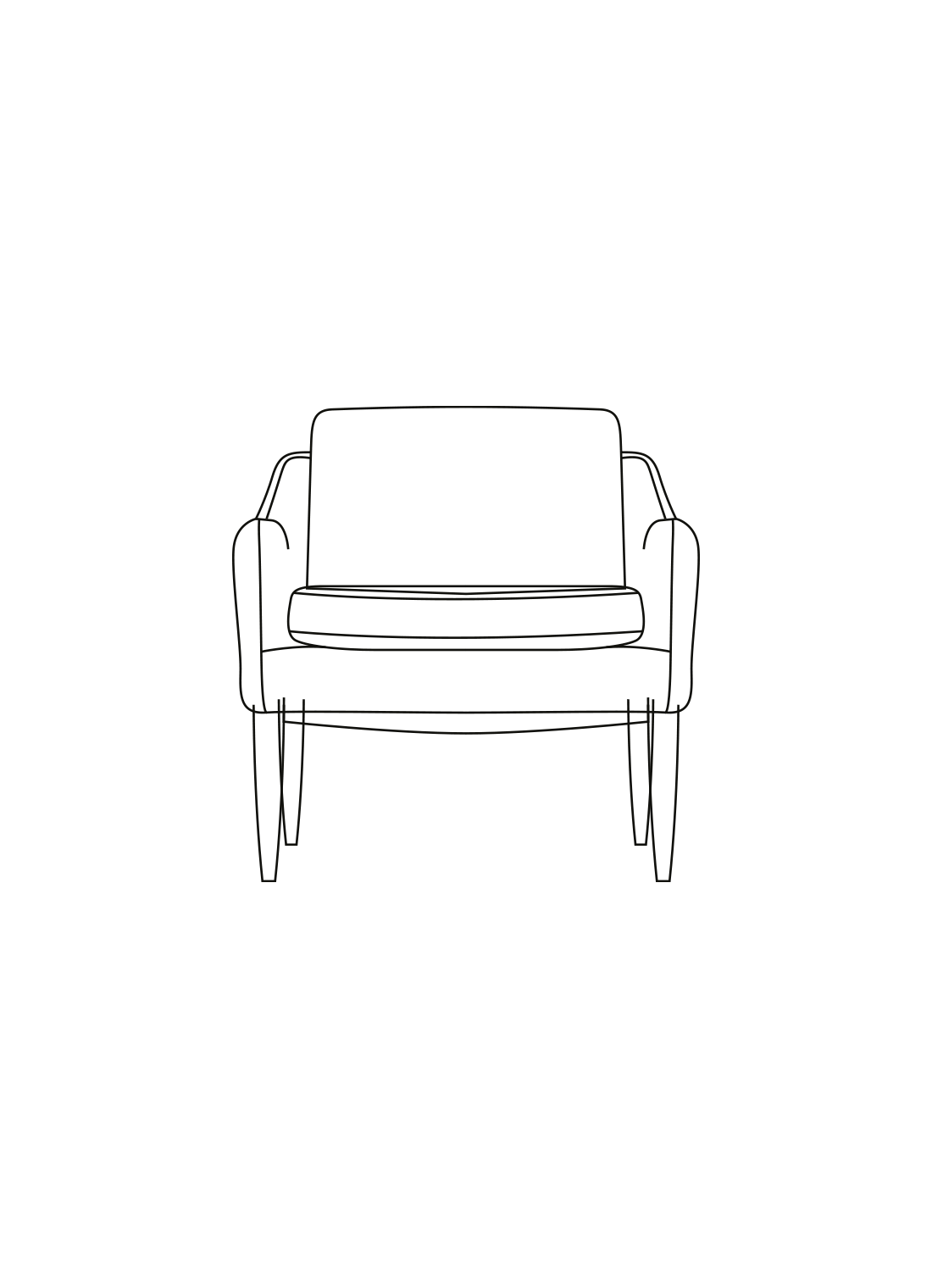 Mr. Olsen Lounge stol illustration